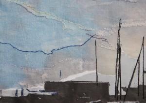 Een detail van een werkje dat ik heb gemaakt n.a.v. een foto van de Jachthaven in Streefkerk.